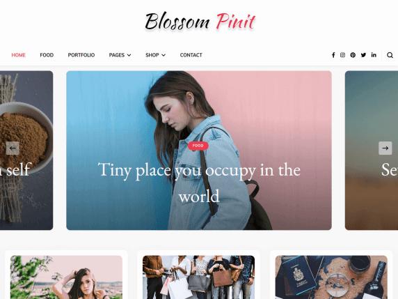 Blossom PinIt- WooCommerce theme