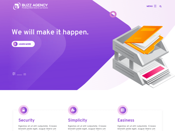 Buzz agency- WordPress theme