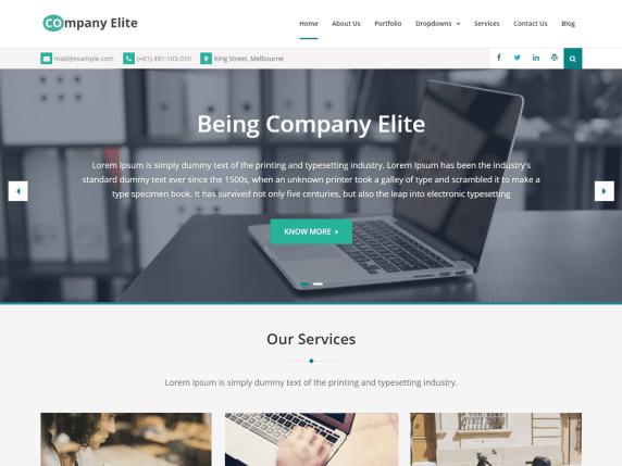 Company Elite- WordPress theme