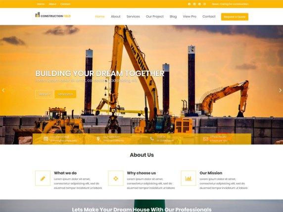 Construction field- WordPress theme