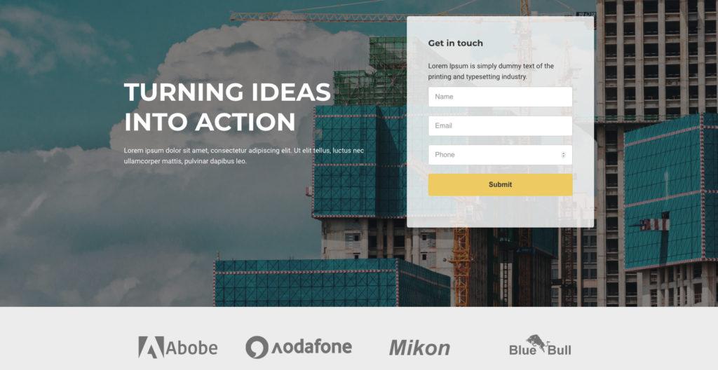 Construction Landing Page- WordPress theme