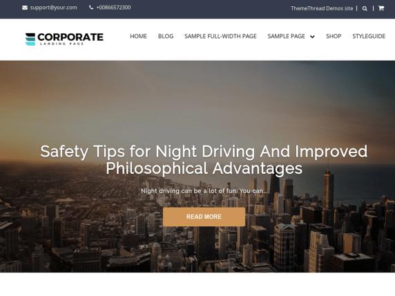 Corporate Landing Page- WordPress theme