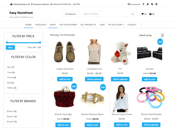 Easy Storefront- Free WooCommerce theme