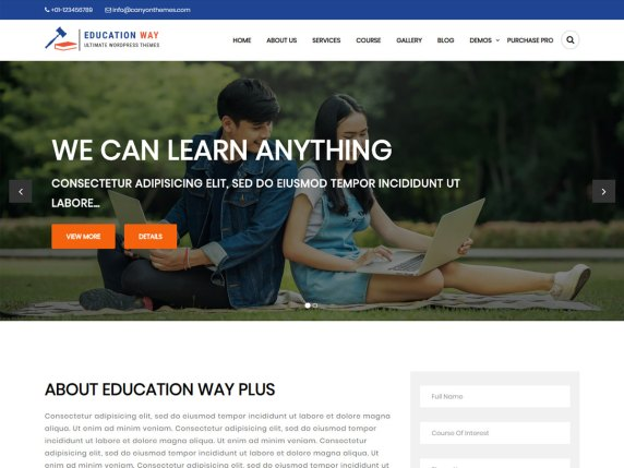 Education Way- free WooCommerce theme