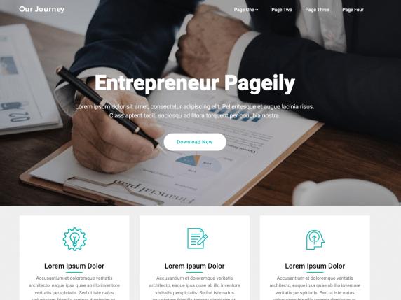 Entrepreneur Pageily- WordPress theme