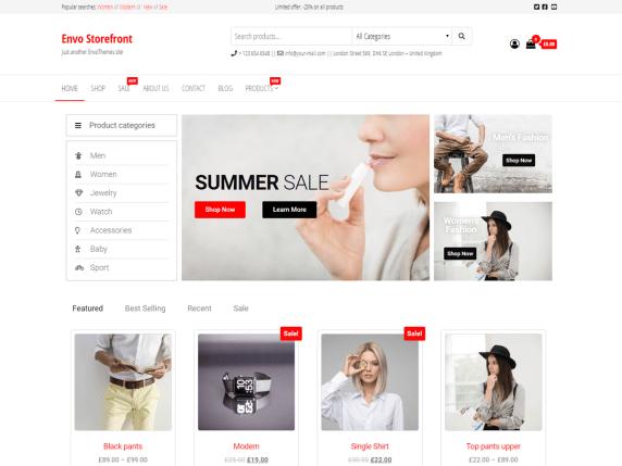Envo Storefront- WooCommerce theme