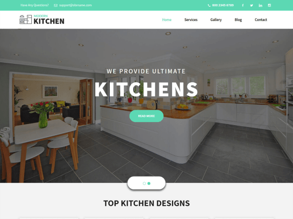 Kitchen Design- WooCommerce theme