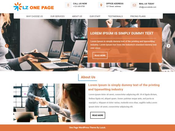 LZ One Page- WordPress theme