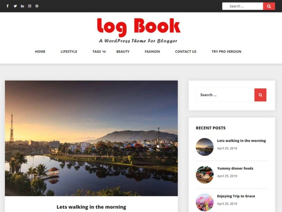 Log Book- free WooCommerce themes