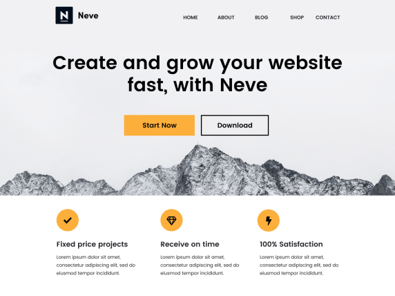 Neve- WordPress theme