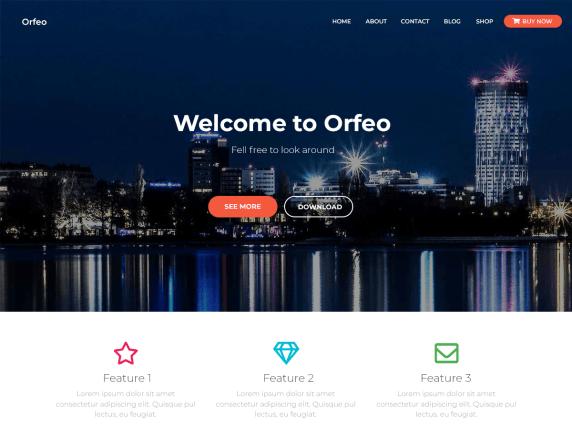 Orfeo- WordPress theme