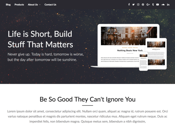 PageBuilderly- WordPress theme