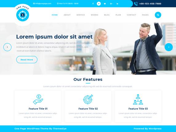 Safha landing page- WordPress theme