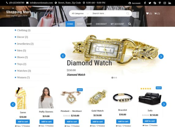 Shopping Mart- free WooCommerce theme