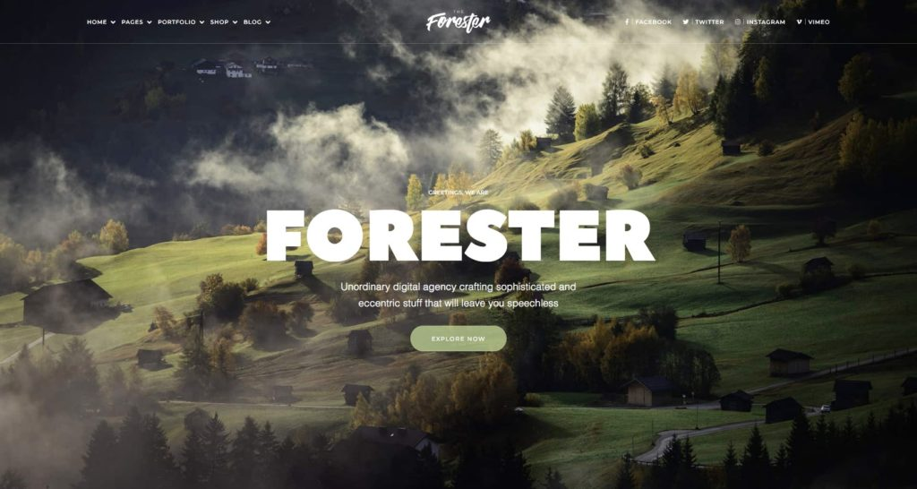 The Forester- WordPress Elementor theme