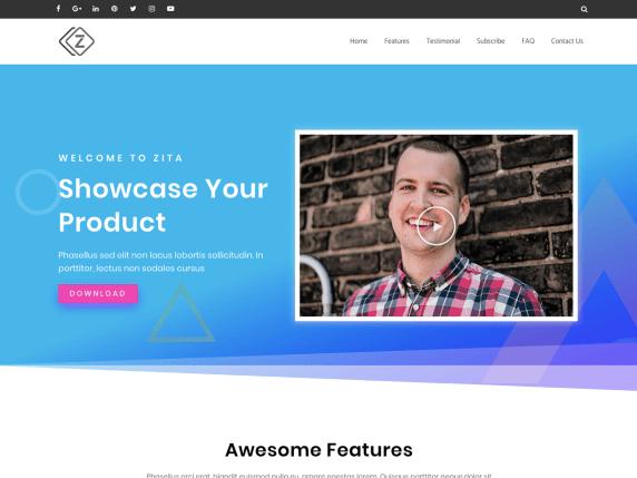 Zita- WordPress theme