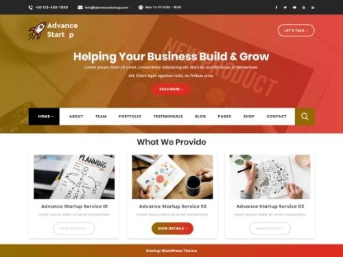 Advance-Startupbest free WordPress business themes