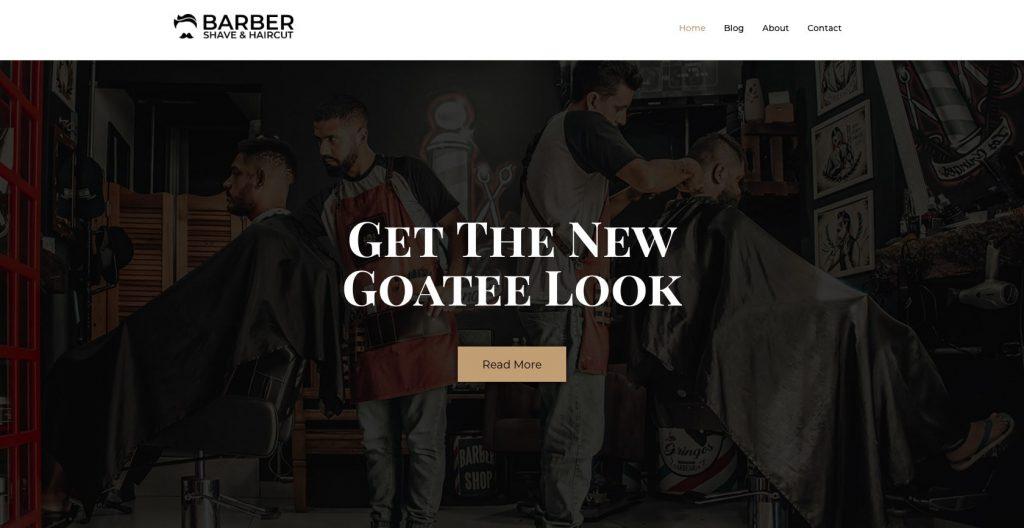 Barbershop- WordPress theme