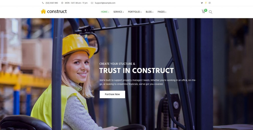 Construct- WordPress construction theme