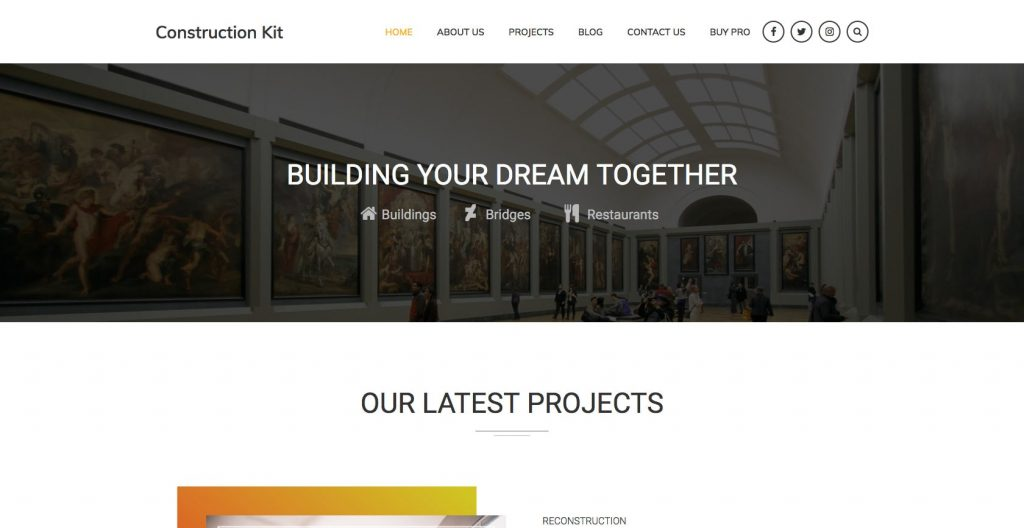 Construction Kit- Free WordPress construction theme