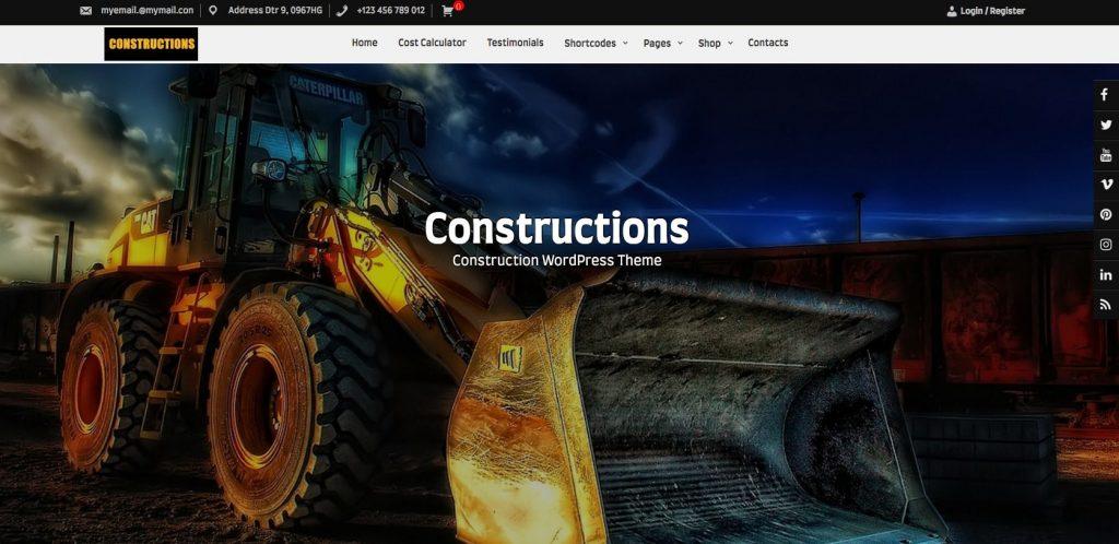 Constructions- Free WordPress construction theme