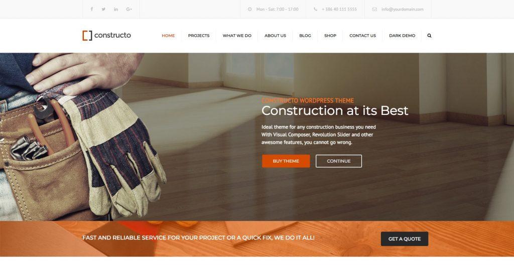 Constructo- WordPress construction theme