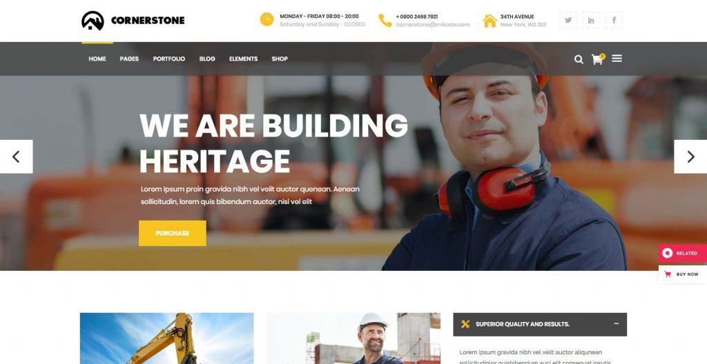 Cornerstone- WordPress construction theme