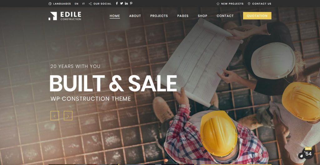 Construction Edile- WordPress construction theme