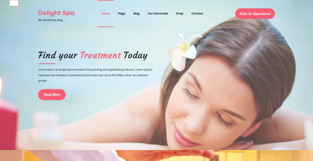 Delight Spa- WordPress theme