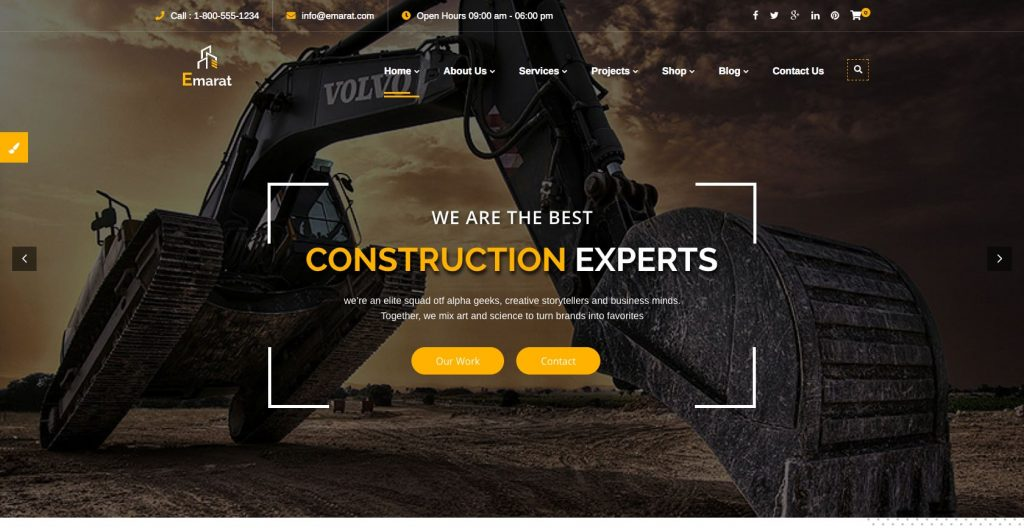 Emarat- WordPress construction theme