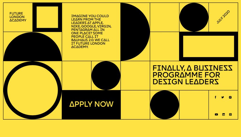 Geometric shapes- Web design trend