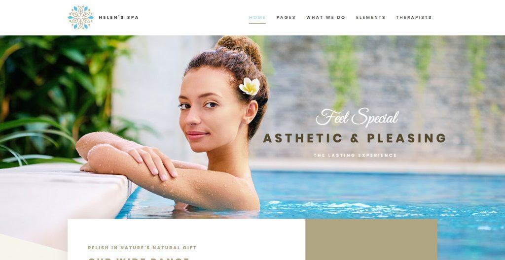 Helen Spa- WordPress theme