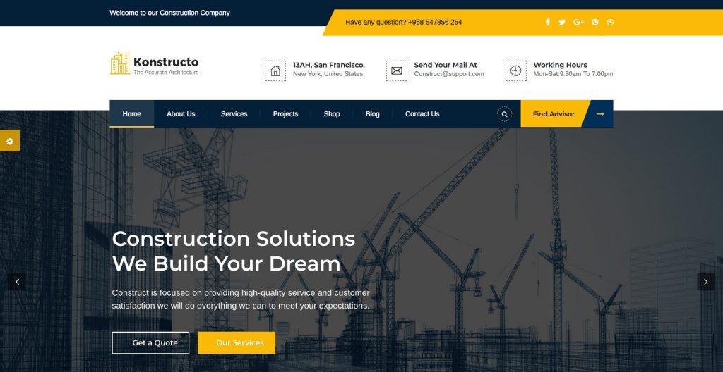 Konstructo- WordPress construction theme
