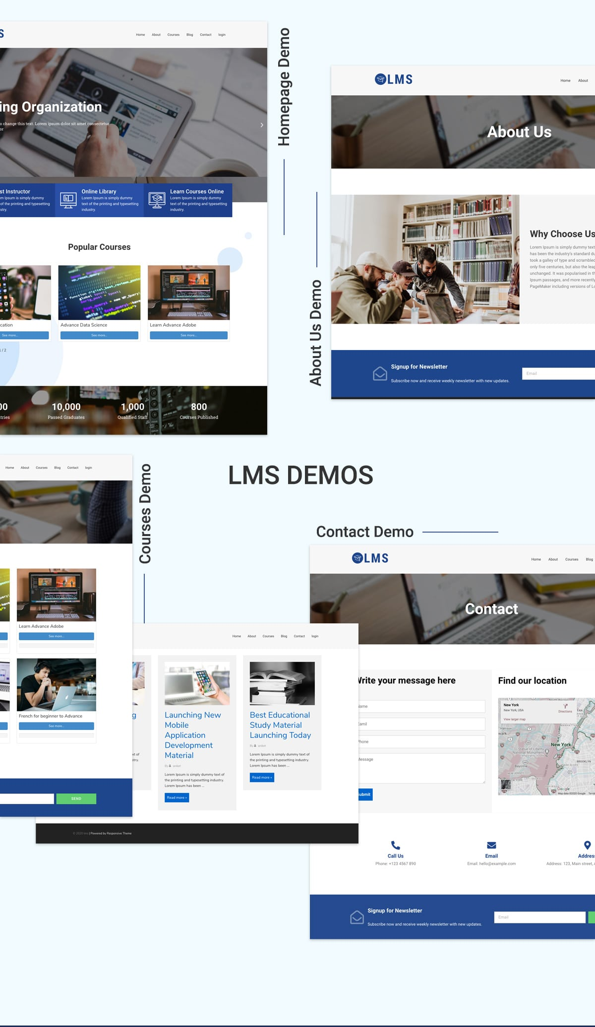 LMS WordPress Theme Banner 1