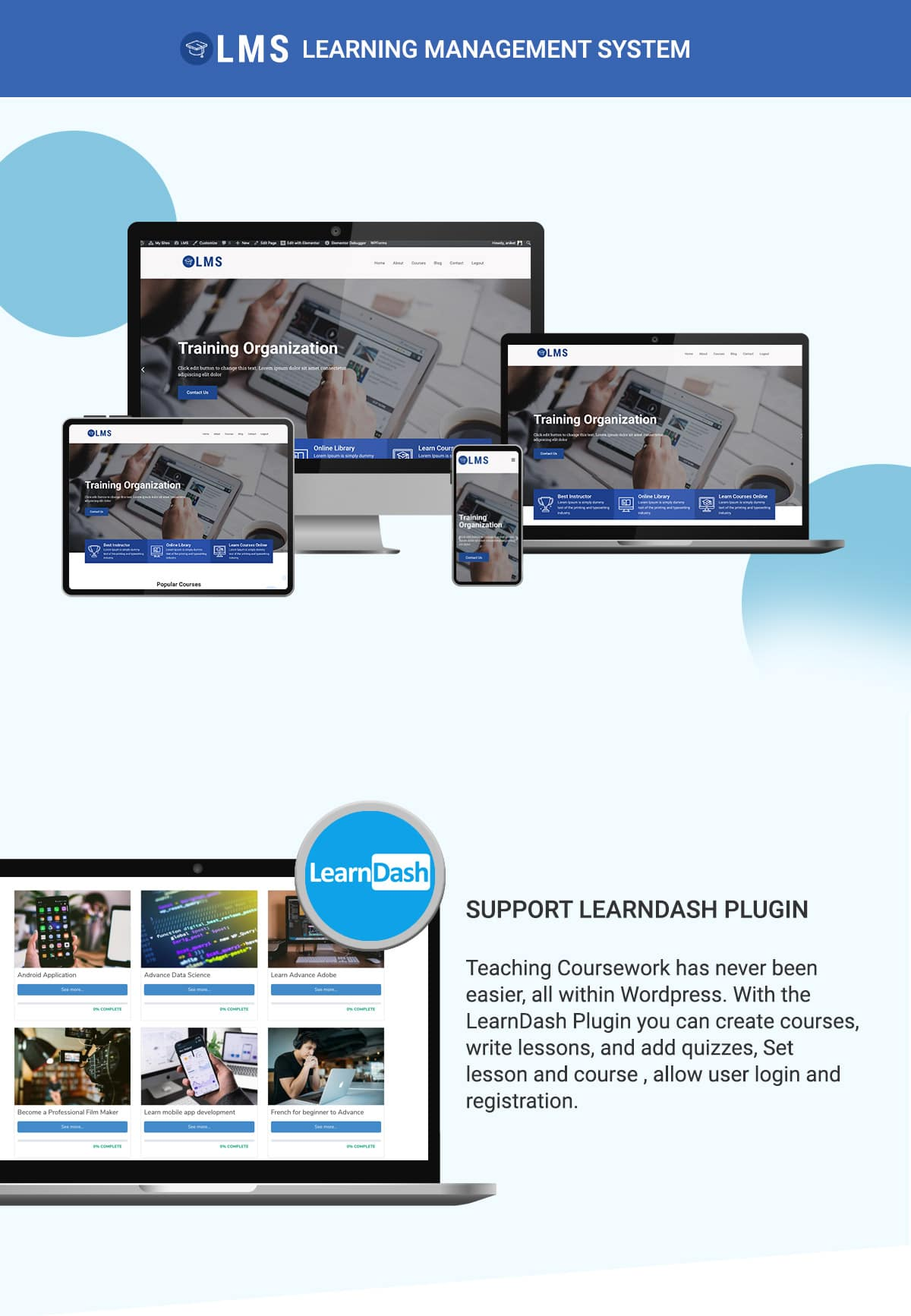 LMS WordPress Theme Banner 9