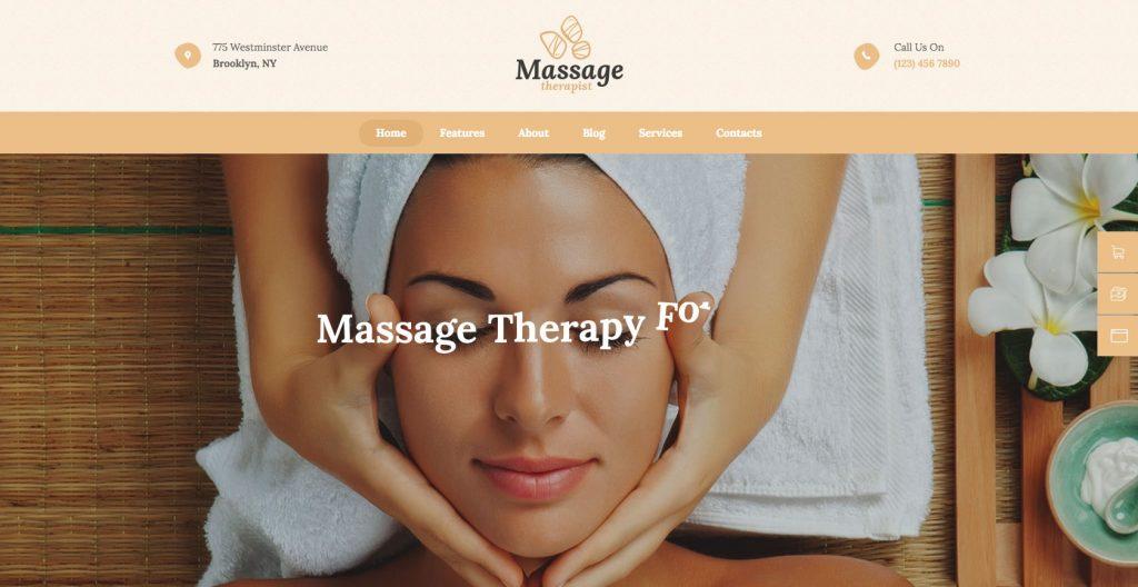 Massage therapist- WordPress theme