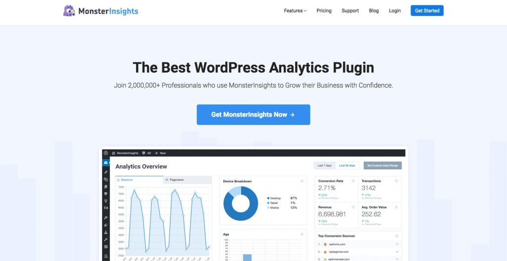 MonsterInsights The Best Google Analytics Plugin for WordPress
