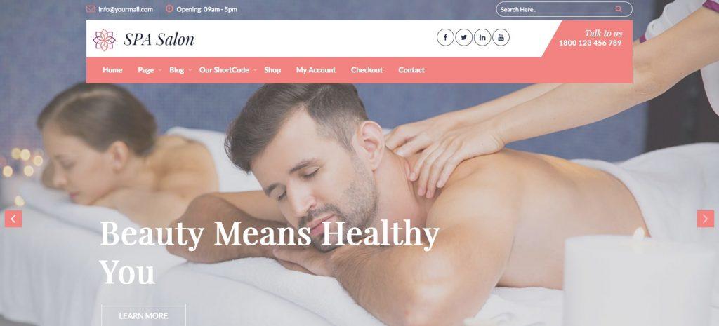 Nikhar Spa Salon- WordPress theme