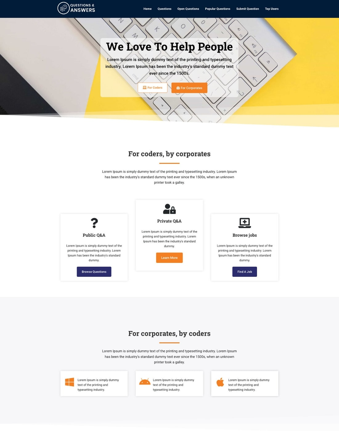 WordPress question and answer theme