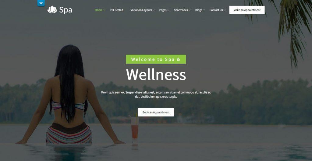 Spa lite- WordPress theme