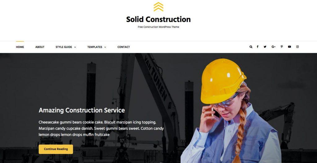 Solid Construction- Free WordPress construction theme