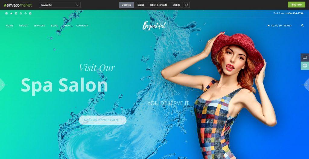 Spa Beauty & Hair Salon- WordPress theme