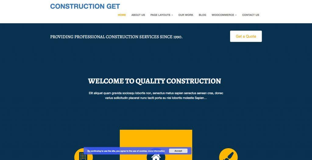 Construction Get- Free WordPress construction theme