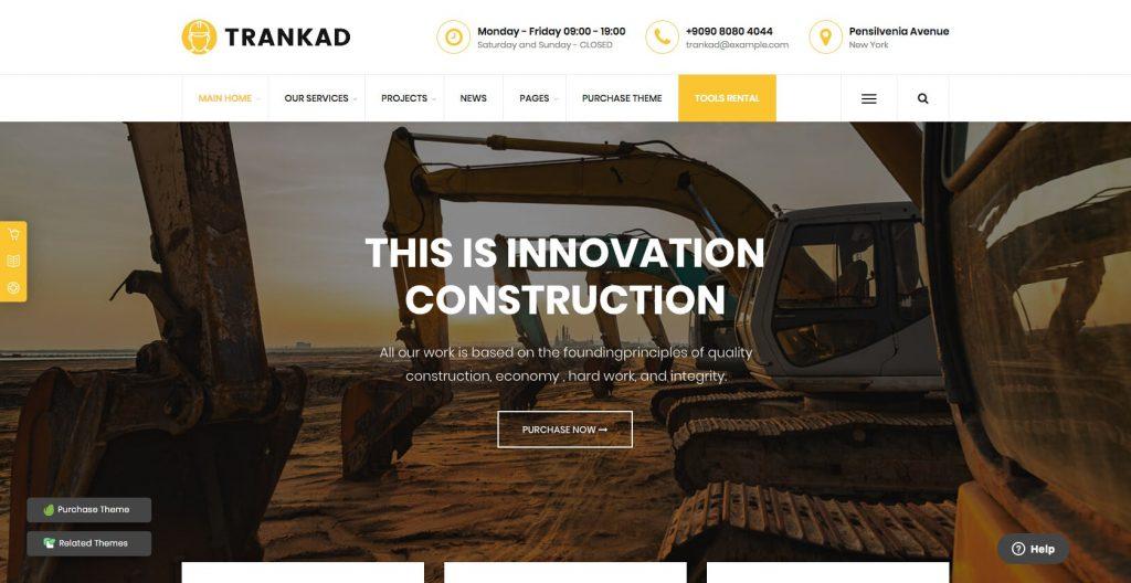 Trankad- WordPress construction theme
