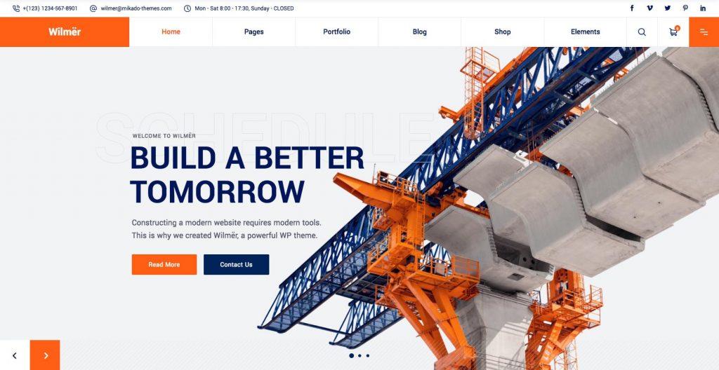 Wilmer- WordPress construction theme