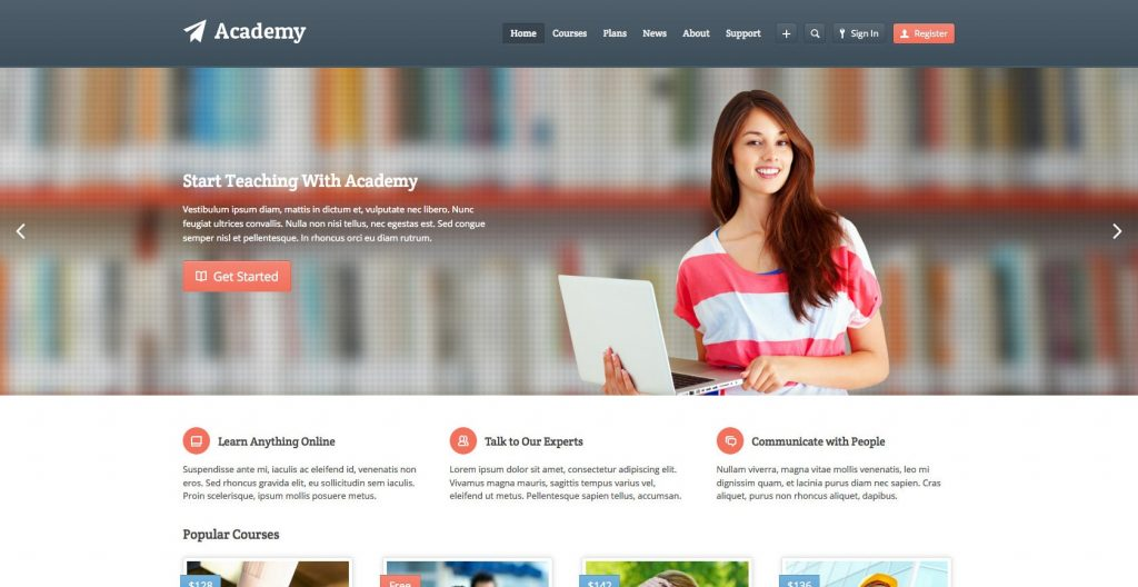 Academy WordPress education theme