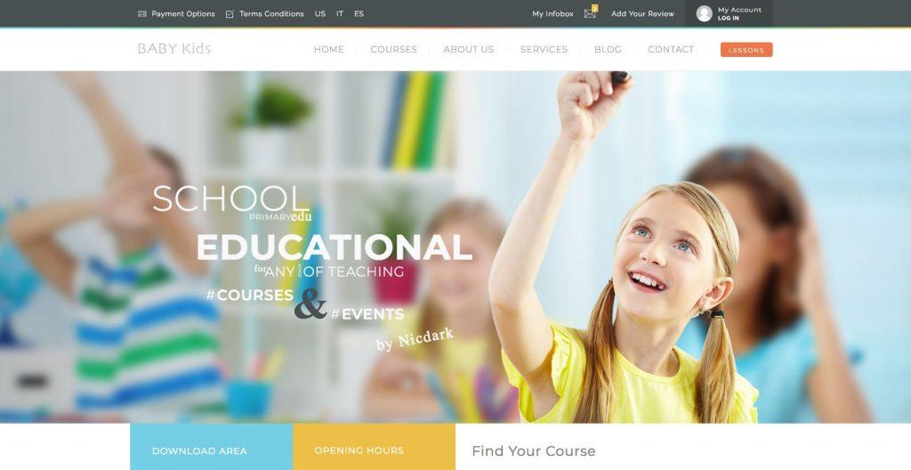 Baby kids- education WordPress theme