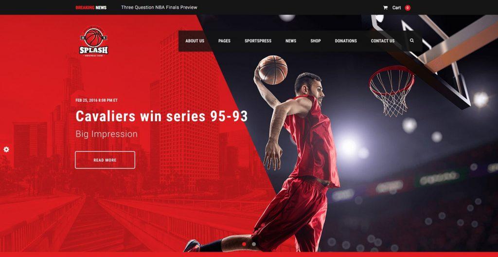 Splash- WordPress sports club theme