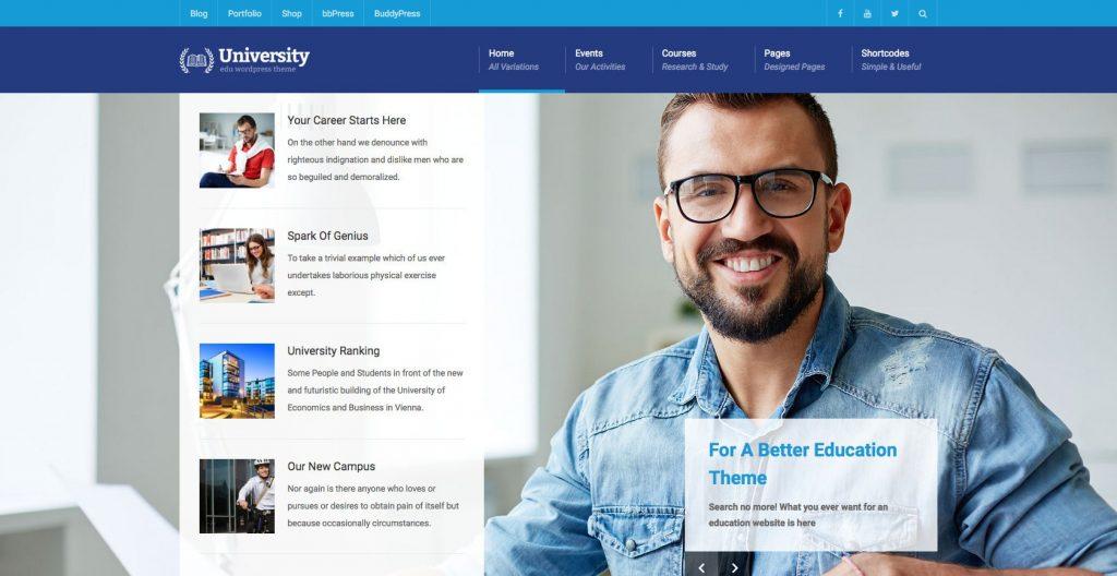 University- multipurpose education WordPress theme
