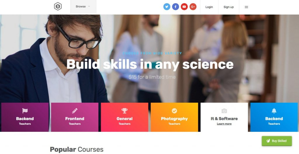 Skilled- WordPress theme for education